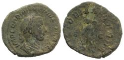 Ancient Coins - Gordian III. AD 238-244. Æ Sestertius. Rome mint, 5th officina. 12th emission, AD 243. R/ VICTORY