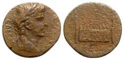 Ancient Coins - Augustus (27 BC-AD 14). Æ As - Lugdunum - R/ Altar