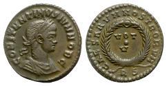 Ancient Coins - Constantine II (Caesar, 316-337). Æ Follis - Rome