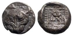 Ancient Coins - Ionia, Miletos, late 6th-early 5th century BC. AR 1/8 Stater