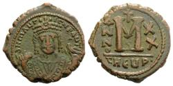 Ancient Coins - Maurice Tiberius (582-602). Æ 40 Nummi. Antioch, year 20 (601/2).