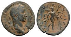 Ancient Coins - Severus Alexander (222-235). Æ Sestertius - R/ Mars
