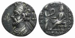 Ancient Coins - Kings of Parthia, Vologases III (c. AD 105-147). Tetradrachm. Seleukeia on the Tigris, year 436 (AD 124). Ex Simonetta Collection
