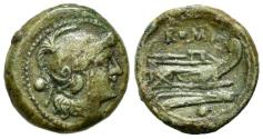 Ancient Coins - ROME REPUBLIC Anonymous, Rome, after 211 BC. Æ Uncia NICE !!