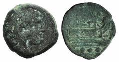 Ancient Coins - ROME REPUBLIC  Anonymous, Rome, after 211 BC. Unofficial Æ Quadrans