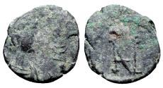 Ancient Coins - Zeno (476-491). Æ Nummus. Constantinople. R/ Zeno MONOGRAM