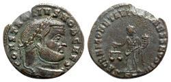 Ancient Coins - Constantius I (Caesar, 293-305). Æ Follis - Ticinum - R/ Moneta