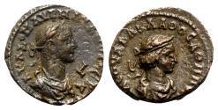 Ancient Coins - Aurelian and Vaballathus (270-275). Egypt, Alexandria. BI Tetradrachm