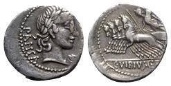Ancient Coins - C. Vibius C.f. Pansa, Rome, 90 BC. AR Denarius