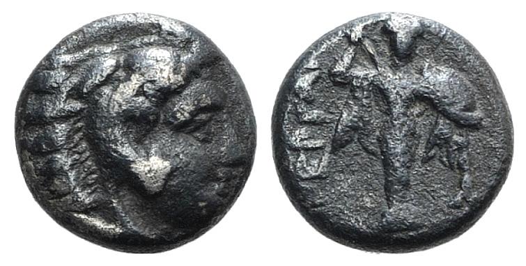 Ancient Coins - Mysia, Pergamon, c. 310-282 BC. AR Diobol