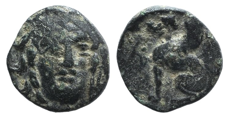 Ancient Coins - Troas, Gergis, c. 350-300 BC. AE 8mm