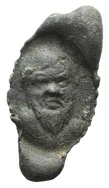 Ancient Coins - Egypt, Antinoöpolis area, c. 2nd-3rd century. PB Seal. Facing head of bearded satyr.