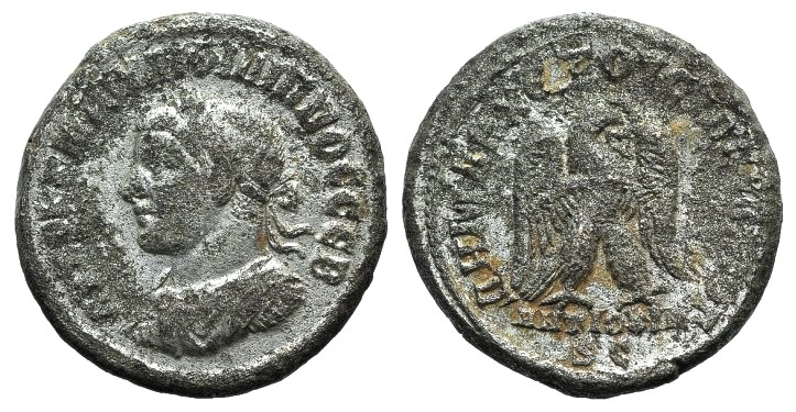 Ancient Coins - Philip II (247-249). Seleucis and Pieria, Antioch. BI Tetradrachm. Struck AD 247.  R/ Eagle