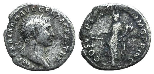 Ancient Coins - Trajan (98-117). AR Denarius. Rome, 107-111. R/ Aequitas