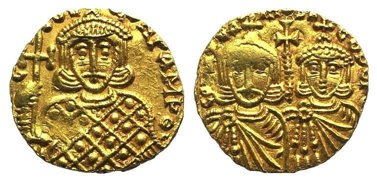 Ancient Coins - Constantine V (741-775). AV Solidus - Syracuse RARE
