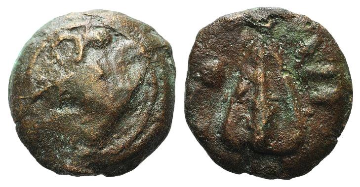 Ancient Coins - ITALY, UMBRIA. Tuder. Circa 270-260 BC. AE Aes Grave Uncia RARE