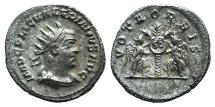 Ancient Coins - VALERIAN I. 253-260 AD. Antoninianus. Samosata mint. Struck circa 255-256 AD. R / VOTA ORBIS