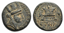 Ancient Coins - Seleukis and Pieria, Antioch, Civic coinage. Æ Trichalkon. Dated Year 108 of the Caesarean Era (AD 59/60).