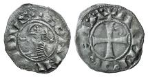 World Coins - CRUSADERS, Antioch. Bohémond III. 1163-1201. AR Denier