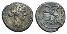 Ancient Coins - Roman Imperatorial, C. Vibius Varus, AR Denarius, Rome, 42 BC.