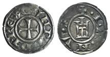 World Coins - CRUSADER Italy, Genova. Republic, 1139-1339. AR Grosso da 4 Denari