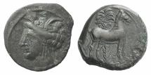 Ancient Coins - Zeugitania SICULO-PUNIC. Circa late-fourth to early-third century BC. Æ 16mm