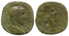 Ancient Coins - Gordian III (238-244). Æ Sestertius - Rome - R/ Libertas