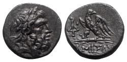 Ancient Coins - Pontos, Amisos, time of Mithradates VI, c. 85-65 BC. Æ - Zeus / Eagle