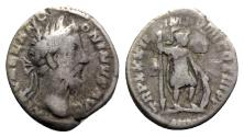 Ancient Coins - Marcus Aurelius (161-180). AR Denarius - Rome - R/ Mars
