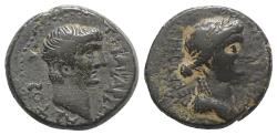 Ancient Coins - MACEDON, Thessalonica. Tiberius, with Julia Augusta (Livia). AD 14-37. Æ 22mm