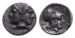 Ancient Coins - Mysia, Lampsakos, 4th-3rd centuries BC. AR Diobol