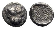 Ancient Coins - Ionia, Miletos, late 6th-early 5th century BC. AR Obol