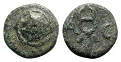 Ancient Coins - Pamphylia, Aspendos, 1st century BC. Æ - Shield / Kerykeion