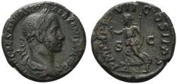 Ancient Coins - Severus Alexander (222-235). Æ As . Rome, AD 228.  R/ PAX