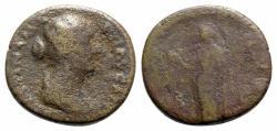 Ancient Coins - Faustina Junior (Augusta, 147-175). Æ As - R/ Laetitia