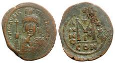 Ancient Coins - Maurice Tiberius (582-602). Æ 40 Nummi - Constantinople