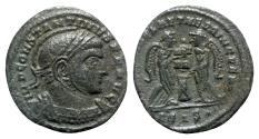 Ancient Coins - Constantine I (307/310-337). Æ Follis - Siscia - R/ Victories