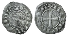 World Coins - CRUSADERS, Antioch. Bohémond III. 1163-1201. AR Denier