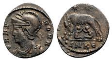 Ancient Coins - Commemorative series, c. 330-354. Æ - Cyzicus - R/ She-wolf