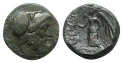 Ancient Coins - Bruttium, Petelia, late 3rd century BC. Æ