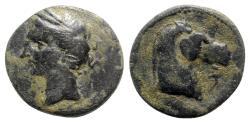 Ancient Coins - Carthaginian Domain, Sardinia, c. 264-241 BC. Æ Dishekel