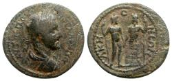 Ancient Coins - Gallienus (254-268). Phrygia, Acmoneia. Æ - R/ Two Kabeiroi