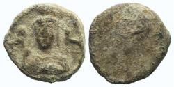 Ancient Coins - Asia Minor, Uncertain, c. 2nd-3rd century AD. PB Seal. Facing bust of Artemis  between two stags.