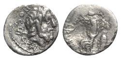 Ancient Coins - Roman Republic - L. Rubrius Dossenus, Rome, 87 BC. AR Quinarius