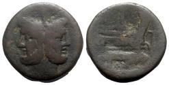 Ancient Coins - Roman Republic - Anchor series, Rome, 169-158 BC. Æ As