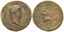 Ancient Coins - Nero (54-68). Æ Dupondius. Rome, c. AD 64. R/ SECURITAS