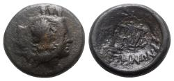 Ancient Coins - Uncertain mint, Æ - Head of Apollo with c/m / Lyre