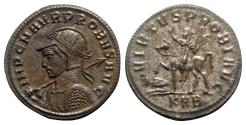 Ancient Coins - Probus (276-282). Radiate - Serdica - R/ Emperor on horseback