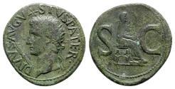 Ancient Coins - Divus Augustus (died AD 14). Æ As - R/ Livia/Pietas seated