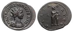 Ancient Coins - Numerian (283-284). Radiate. Lugdunum, early AD 284.  R/ PIETAS
